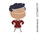 flat color style cartoon proud... | Shutterstock .eps vector #1172681737