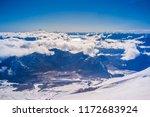 view from volcano villarrica ... | Shutterstock . vector #1172683924