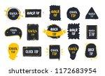 quick tips badge set on black... | Shutterstock .eps vector #1172683954