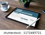 online visa application form on ... | Shutterstock . vector #1172685721