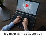video player window on device...   Shutterstock . vector #1172685724