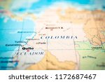 colombia map background | Shutterstock . vector #1172687467