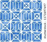 hand painted geometric tile.... | Shutterstock .eps vector #1172697697