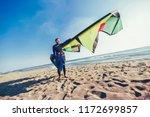 handsome caucasian man... | Shutterstock . vector #1172699857