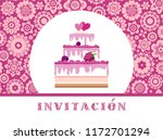 color card. invitation to a... | Shutterstock .eps vector #1172701294