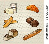 colorful bakery products set ... | Shutterstock .eps vector #117270334