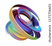 3d render  abstract brush... | Shutterstock . vector #1172706601