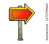 cartoon doodle lit up sign | Shutterstock .eps vector #1172709664