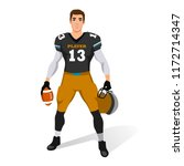 american football player... | Shutterstock .eps vector #1172714347