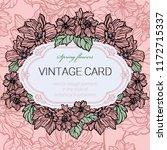 vintage floral frame  card   Shutterstock .eps vector #1172715337