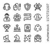esport cybersport icon line set | Shutterstock .eps vector #1172721337