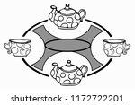 graphic drawing with cups and... | Shutterstock .eps vector #1172722201