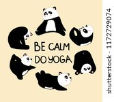 cute card. be calm do yoga.... | Shutterstock .eps vector #1172729074