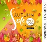 autumn sale banner. autumnal... | Shutterstock .eps vector #1172731477