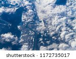 blue planet earth seen from... | Shutterstock . vector #1172735017