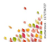 autumn background with colorful ... | Shutterstock .eps vector #1172736727