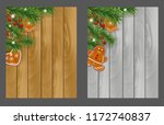 set christmas wooden... | Shutterstock .eps vector #1172740837
