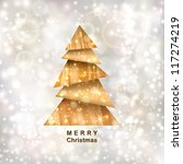 christmas tree. greeting card.... | Shutterstock .eps vector #117274219