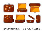 travel case. vector various... | Shutterstock .eps vector #1172746351