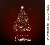 merry christmas and happy new... | Shutterstock .eps vector #117274681