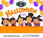 halloween bright  party design ... | Shutterstock . vector #1172750287
