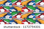 pattern with sneaker shoes ... | Shutterstock .eps vector #1172754331