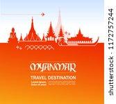 travel to myanmar vector... | Shutterstock .eps vector #1172757244