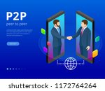isometric peer to peer and... | Shutterstock .eps vector #1172764264