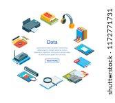 vector isometric online... | Shutterstock .eps vector #1172771731