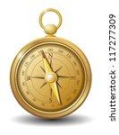 gold compass vector | Shutterstock .eps vector #117277309