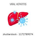 viral hepatitis concept. vector ...   Shutterstock .eps vector #1172789074