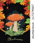 Abstract Autumn Background Wit...