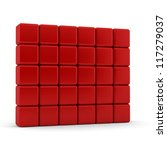 thirty 3d blank red equilateral ... | Shutterstock . vector #117279037