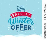special winter offer typography ... | Shutterstock .eps vector #1172793667