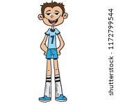 little tall boy ready for the...   Shutterstock .eps vector #1172799544