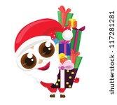 cartoon santa claus vector... | Shutterstock .eps vector #117281281