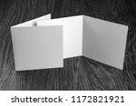 mockup of white booklet on... | Shutterstock . vector #1172821921