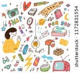 various doodle set   Shutterstock .eps vector #1172831554