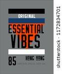 hong kong essential vibes t... | Shutterstock .eps vector #1172834701