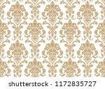 vector beautiful damask pattern.... | Shutterstock .eps vector #1172835727