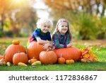 group of little children... | Shutterstock . vector #1172836867