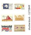 stamps  us vintage stamps ... | Shutterstock . vector #1172849