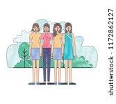group of women in the field... | Shutterstock .eps vector #1172862127