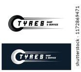 tyre shop logo design   tyre... | Shutterstock .eps vector #1172869471