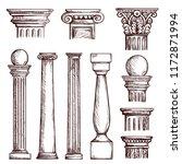 arabic architecture columns... | Shutterstock .eps vector #1172871994