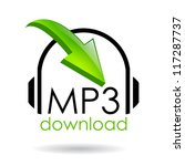 mp3 download vector symbol | Shutterstock .eps vector #117287737