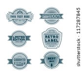 vintage labels | Shutterstock .eps vector #117287845