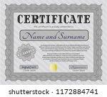 grey certificate template.... | Shutterstock .eps vector #1172884741