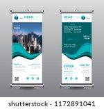 roll up blue banner standee... | Shutterstock .eps vector #1172891041