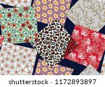 small flower box pattern on... | Shutterstock .eps vector #1172893897